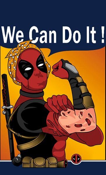 Camiseta Deadpool - We Can Do It !