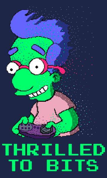 Camiseta Simpsons Thrilled To Bits
