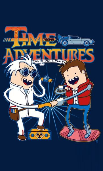 Camiseta Time Adventures  Back to the Future