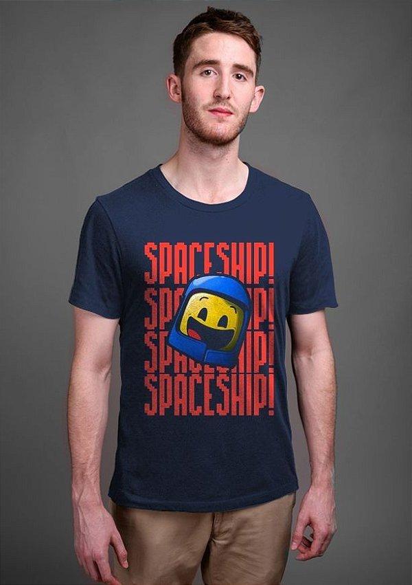 Camiseta Masculina   LEGO Space Ship! - Nerd e Geek - Presentes Criativos