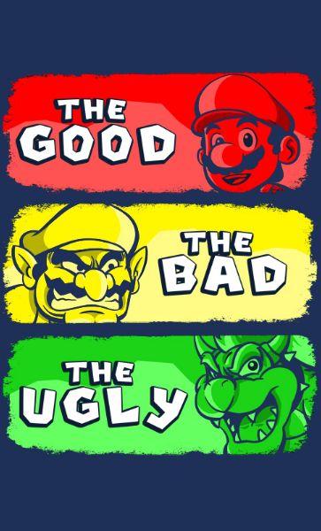 Camiseta Mario The Good the bad