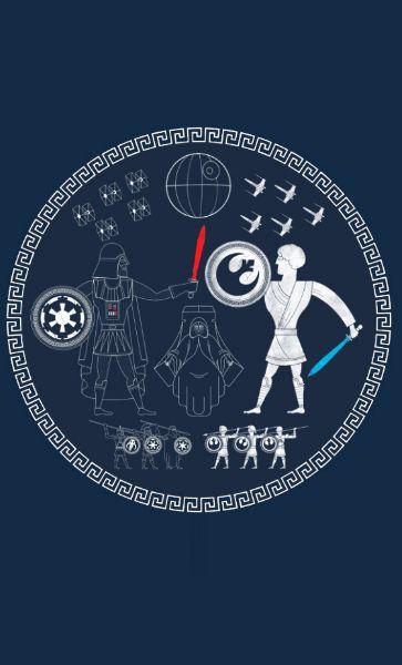Camiseta  Star Wars Greek Wars