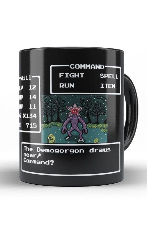 Caneca Stranger Things - Demogorgon