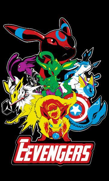 Camiseta Os Vingadores Pokemon
