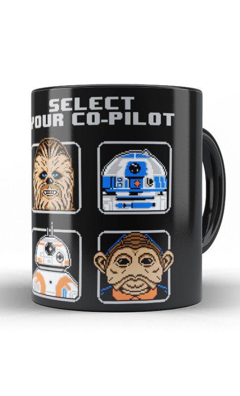 Caneca Star Wars - Chewbacca e R2-D2