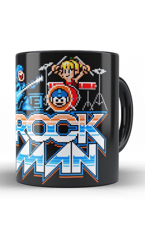 Caneca Mega Men - Rock Man - Nerd e Geek - Presentes Criativos