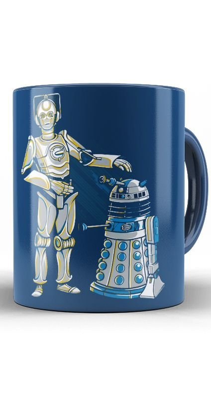 Caneca Star Wars Cyber3PO and R2Dalek