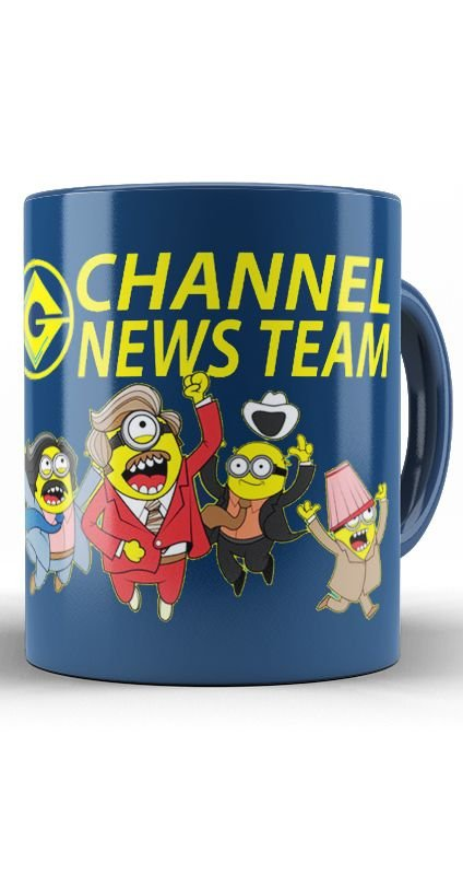 Caneca  Minions Channel News Team