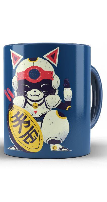 Caneca  Lucky Cat Samurai