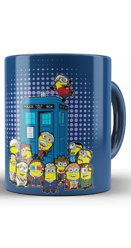 Caneca Minions Doctor Who Police Box