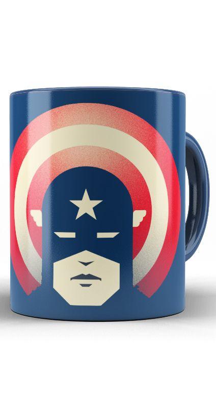 Caneca Captain America Patriotic