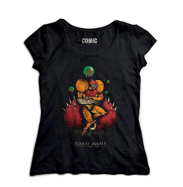 Camiseta Feminina  Metroid Samus