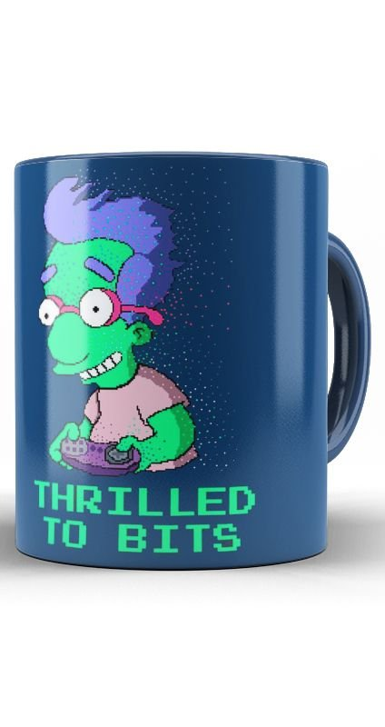 Caneca Simpsons Thrilled To Bits