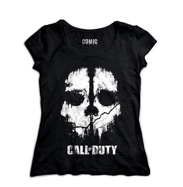 Camiseta Feminina  Call of Duty - Nerd e Geek - Presentes Criativos