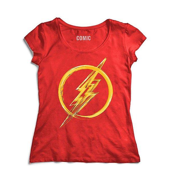 Camiseta Feminina  Flash Simbolo