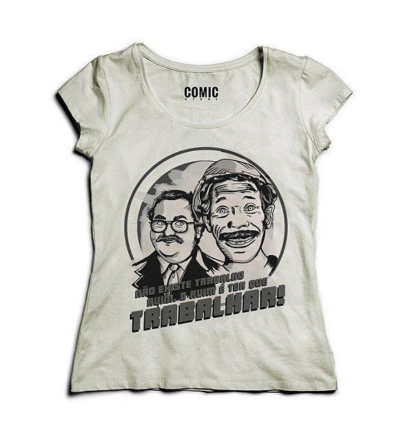 Camiseta Feminina Chaves - Seu Madruga