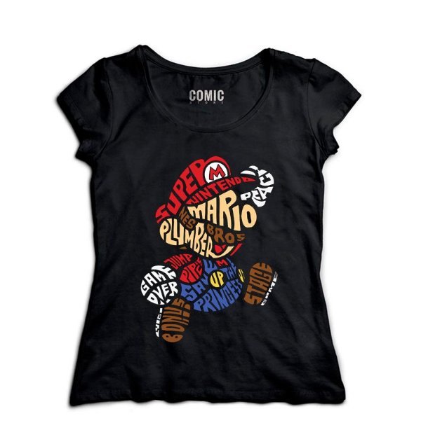Camiseta Feminina  Super Mario Bros - Nerd e Geek - Presentes Criativos