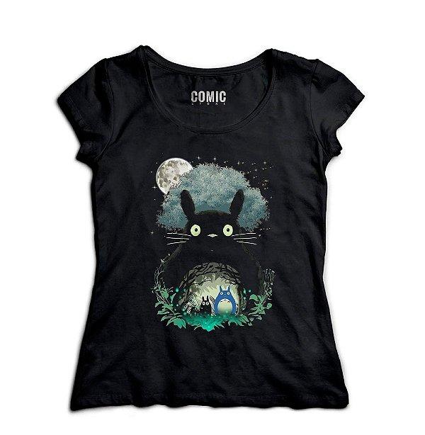 Camiseta Feminina  Totoro - Nerd e Geek - Presentes Criativos