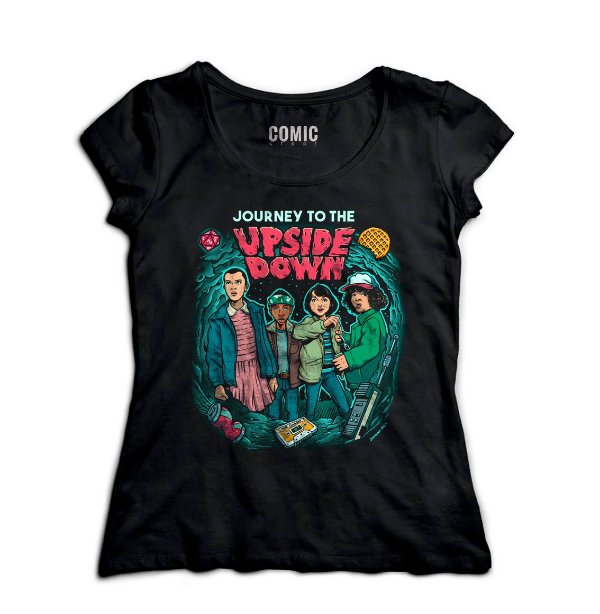 Camiseta Feminina  Stranger Things - Upside Down - Nerd e Geek - Presentes Criativos