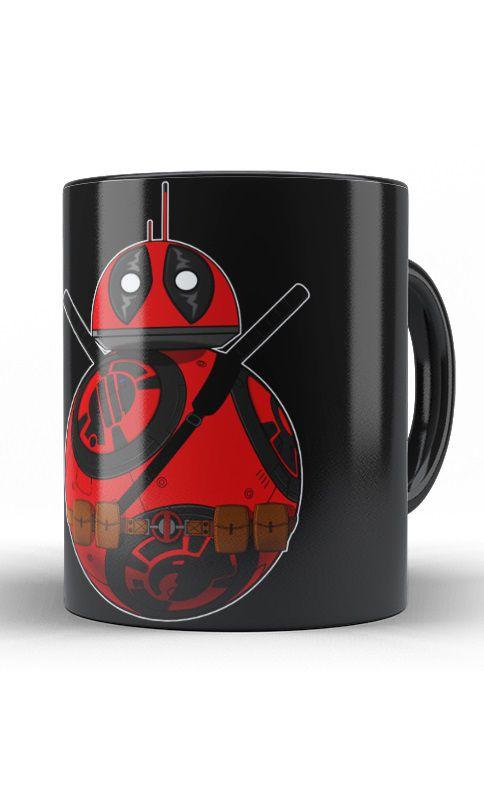 Caneca BB-8 e Deadpool