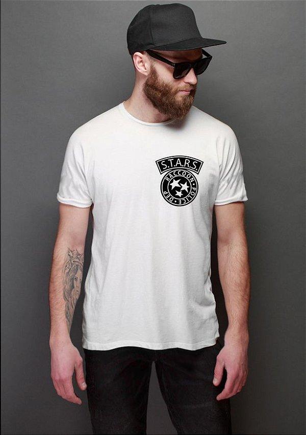 Camiseta Masculina  Resident Evil Bolso - Nerd e Geek - Presentes Criativos