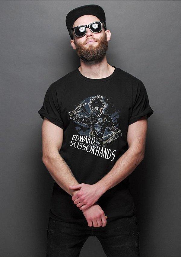 Camiseta Masculina  Edward Mãos de Tesoura - Nerd e Geek - Presentes Criativos