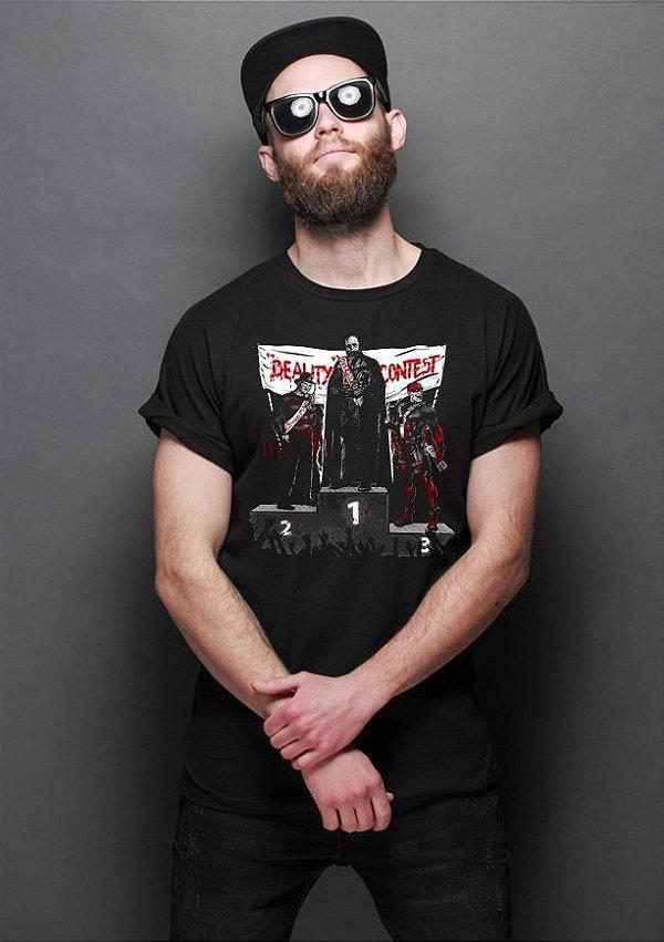 Camiseta Masculina  Concurso de Beleza - Nerd e Geek - Presentes Criativos