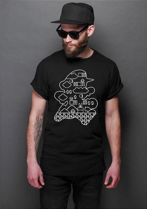 Camiseta Masculina  Mario Bros - Nerd e Geek - Presentes Criativos