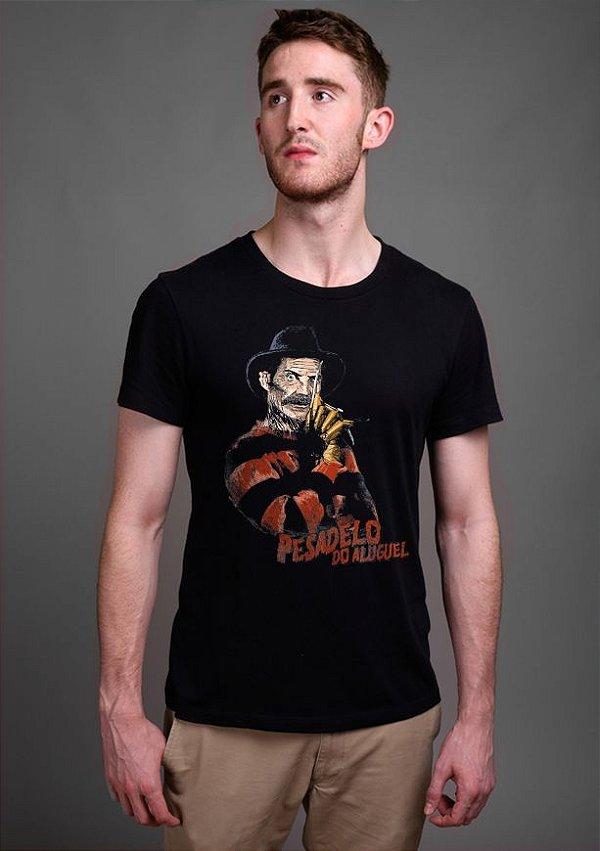 Camiseta Masculina  Pesadelo do Aluguel - Serie Chaves - Nerd e Geek - Presentes Criativos
