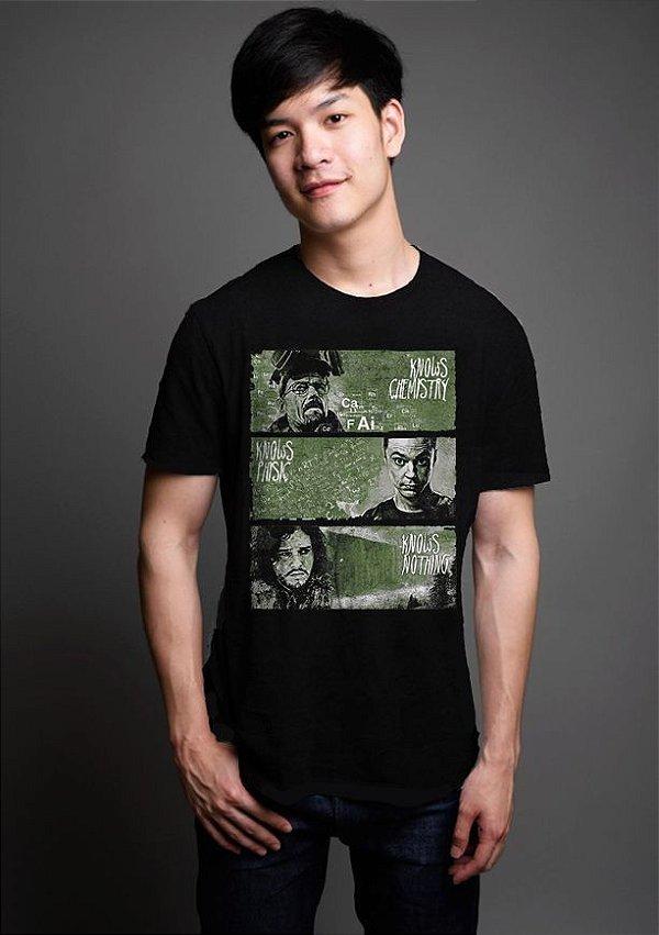 Camiseta Masculina  Heisenberg Thrones - Nerd e Geek - Presentes Criativos
