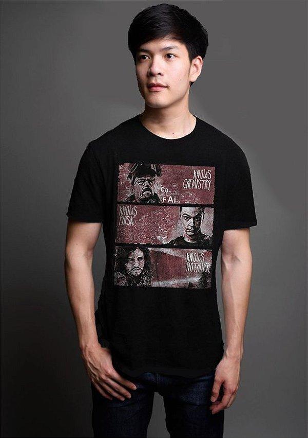 Camiseta Masculina  Heisenberg Thrones V1 - Nerd e Geek - Presentes Criativos
