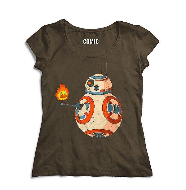 Camiseta Feminina Star Wars BB-8
