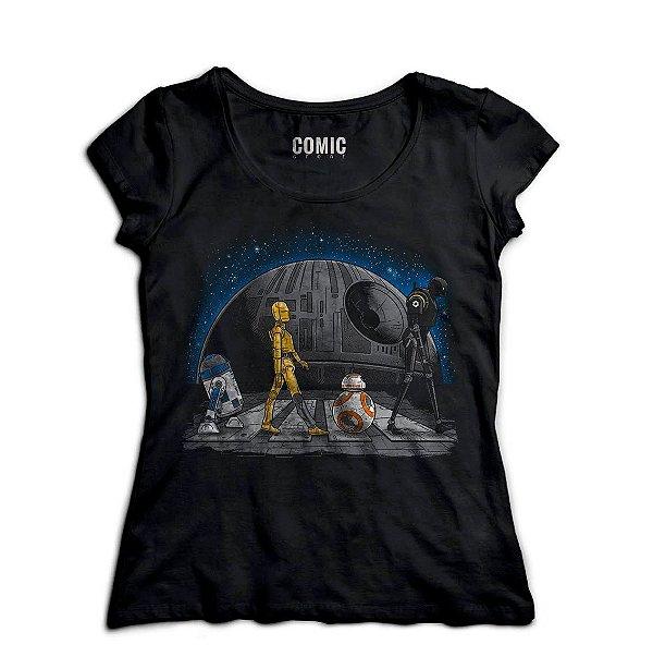 Camiseta Feminina Star Wars - R2-D2 e BB-8