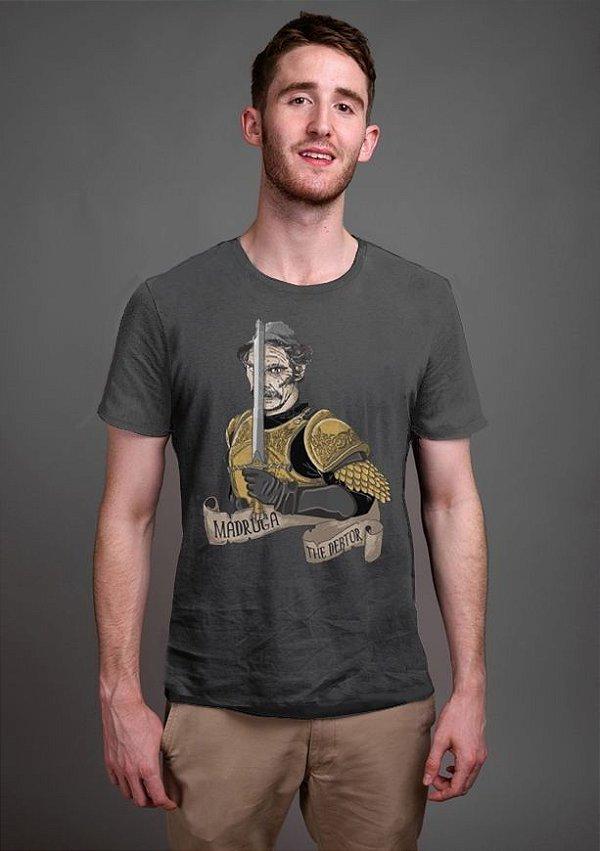 Camiseta Masculina  Madruga O Devedor - Nerd e Geek - Presentes Criativos