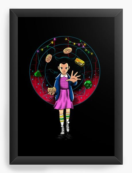 Quadro Decorativo A4 (33X24) Stranger Things - Eleven - Nerd e Geek - Presentes Criativos
