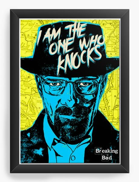 Quadro Decorativo Breaking Bad - Serie - Nerd e Geek - Presentes Criativos