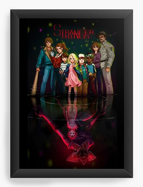 Quadro Decorativo A4 (33X24) Stranger Things - Demogorgon - Nerd e Geek - Presentes Criativos