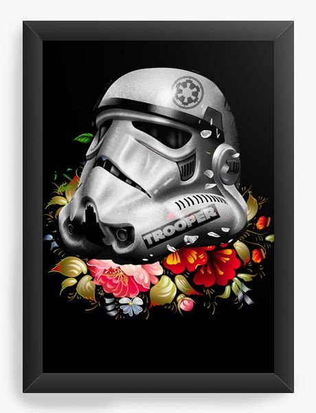 Quadro Decorativo Star Wars - Stormtrooper Flowers