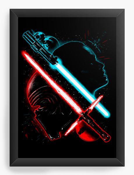 Quadro Decorativo Star Wars - Batalha