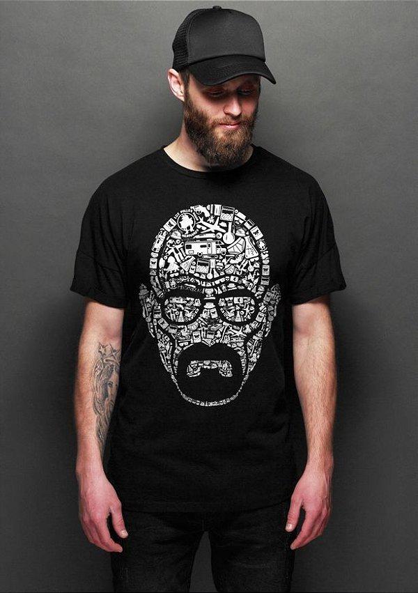 223047a35 Camiseta Masculina Breaking Bad - Walter White - Nerd e Geek - Presentes  Criativos