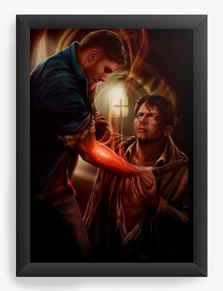Quadro Decorativo Supernatural - Sam e Castiel