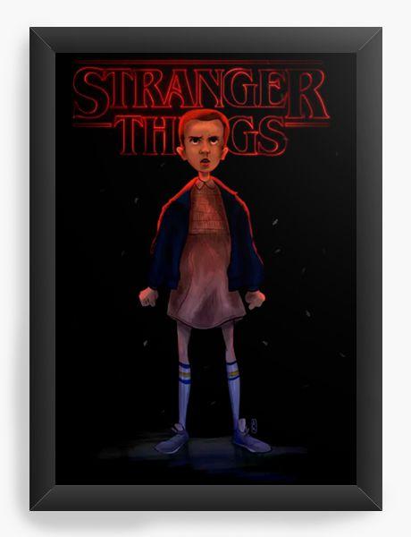 Quadro Decorativo A4 (33X24) Stranger Things - Nerd e Geek - Presentes Criativos