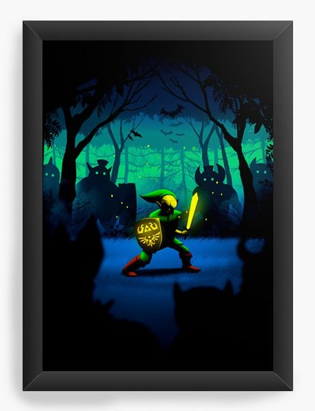 Quadro Decorativo Zelda - Link - Nerd e Geek - Presentes Criativos