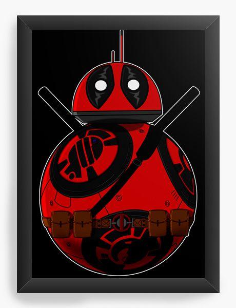 Quadro Decorativo BB-8 Deadpool