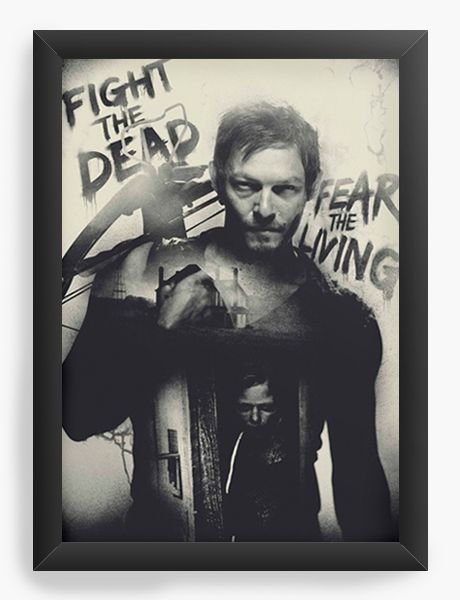Quadro Decorativo The Walking Dead - Daryl Dixon - Nerd e Geek - Presentes Criativos