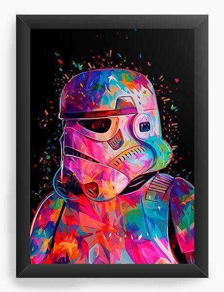 Quadro Decorativo Stormtrooper Colors