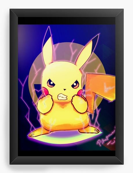 Quadro Decorativo Pikachu - Pokemon - Nerd e Geek - Presentes Criativos