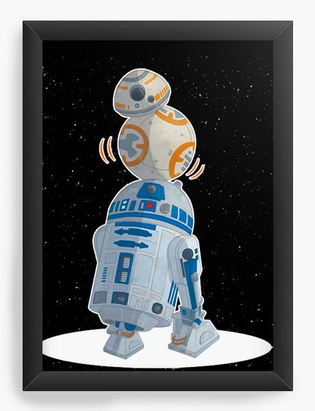 Quadro Decorativo BB-8 e R2-D2