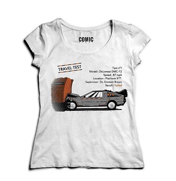 Camiseta Feminina De volta Para o Futuro - Nerd e Geek - Presentes Criativos
