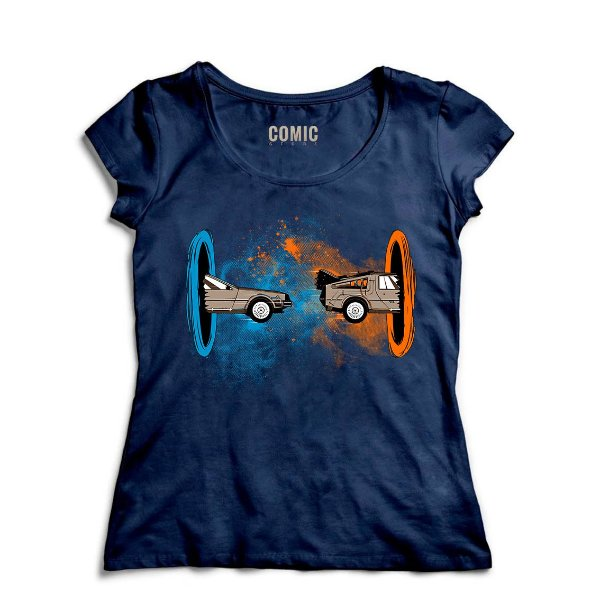 Camiseta Feminina De volta para o Futuro - Movie - Nerd e Geek - Presentes Criativos